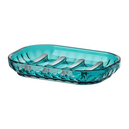 ikea svartsjon turquoise glass soap dish