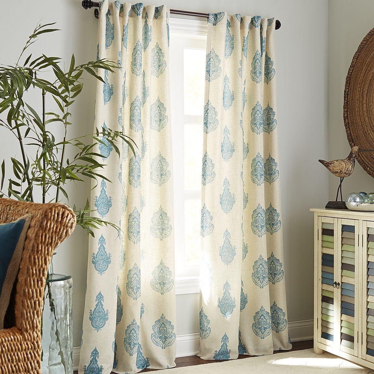 pier 1 rambagh blue paisley curtain