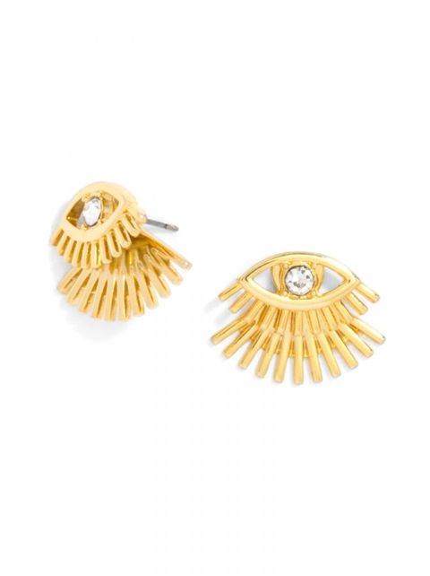 baublebar lashed out ear jackets in gold