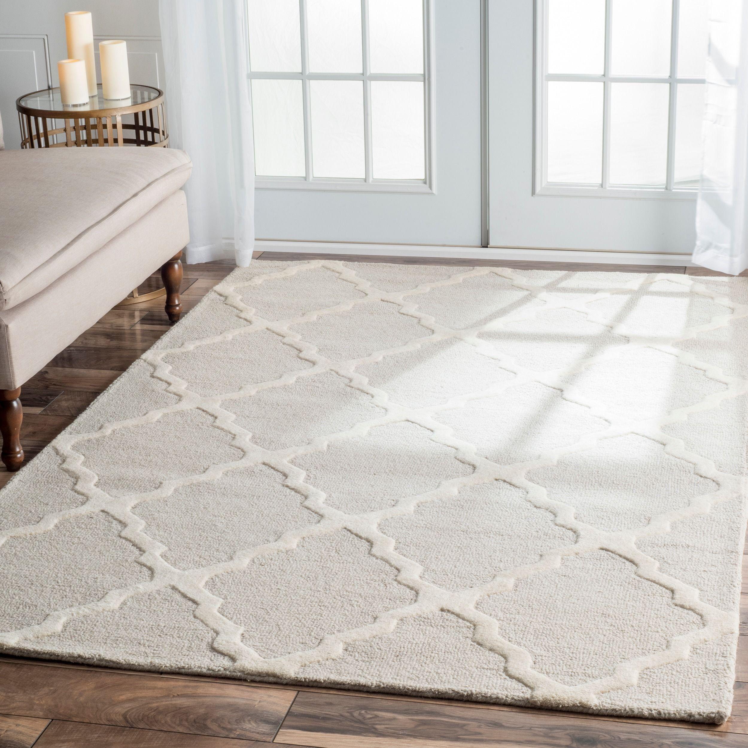 overstock nuLOOM Hand hooked Alexa Moroccan Trellis Wool Rug