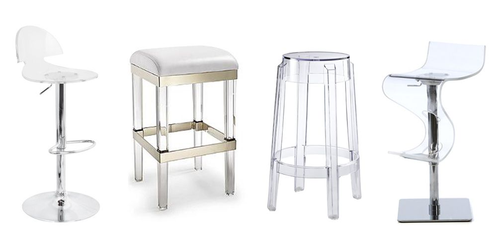 Admirable Fulham Acrylic Backless Bar Stool Pabps2019 Chair Design Images Pabps2019Com