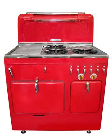 red stove