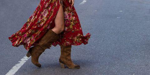 modern western suede boots