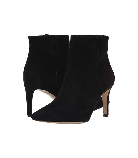 sam edelman suede karen point toe ankle boots in black
