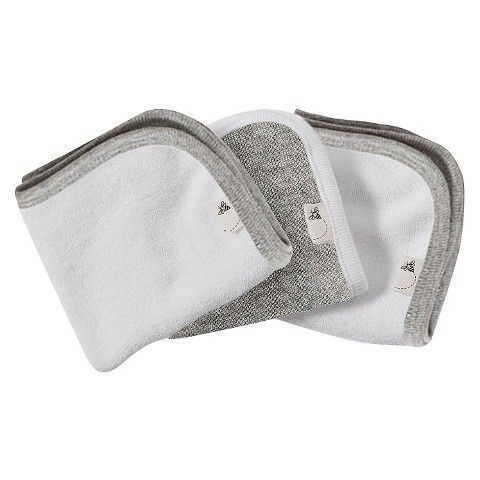 burts bees baby bee essentials 3 pack washcloths heather grey