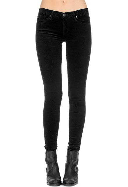 ag velvet leggings in super black