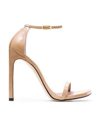 stuart weitzman nudist patent leather sandal