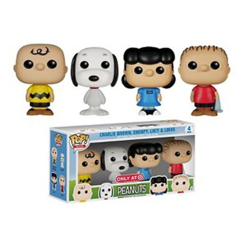 funko peanuts pop mini 4 pack target exclusive