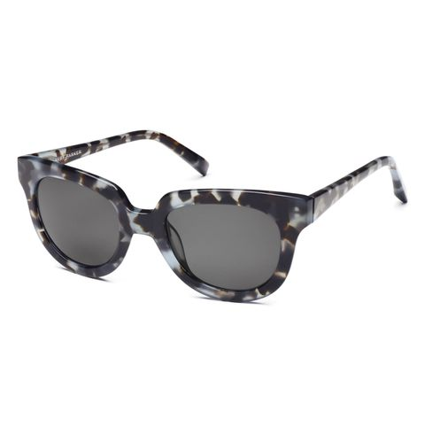 warby parker bank sunglasses in sea smoke tortoise