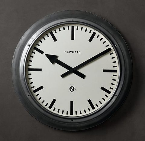 restoration hardware metropolitan wall clock