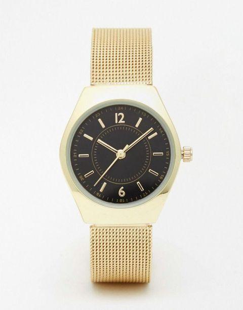 asos vintage style mesh strap midi watch