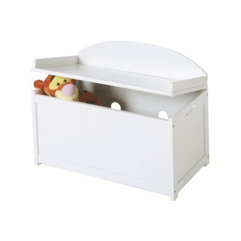 lipper international white toy chest