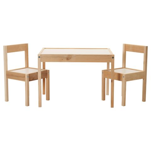 Ikea Children S Table And 2 Chairs Set White Pine