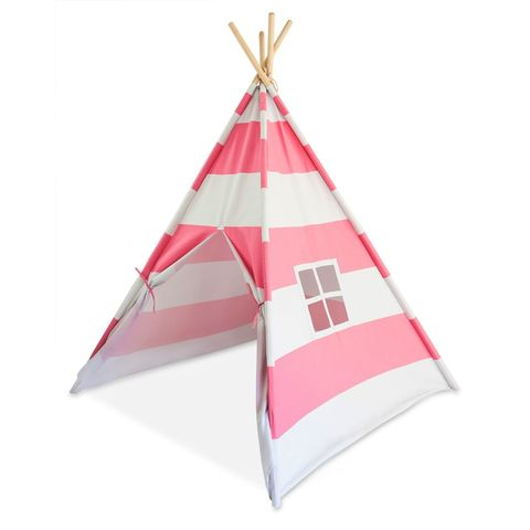 Tiny Hideaways Kids Tee Tent Bubblegum Pink Stripe