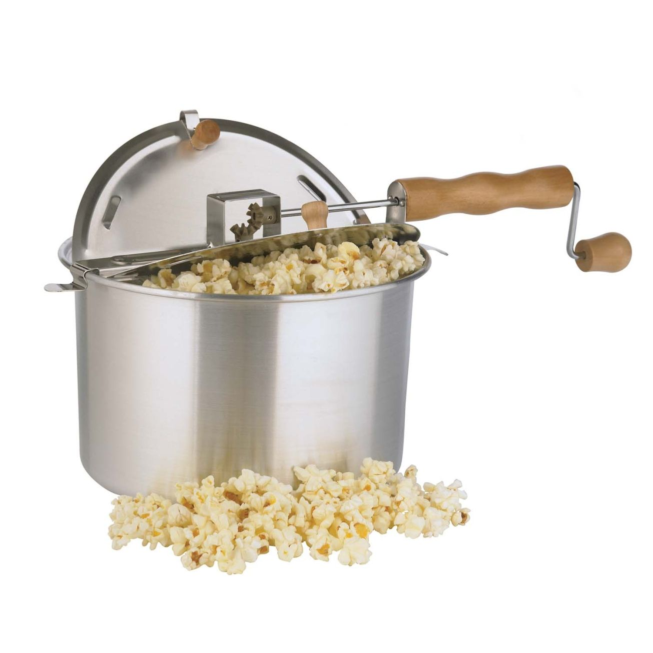 "<p><em><strong> $30, <a href=""http://www.cabelas.com/product/Cabelas-Whirley-Pop-Popcorn-Maker/1421077.uts?productVariantId=3294496&srccode=cii_17588969&cpncode=42-109040954-2&WT.tsrc=CSE&WT.mc_id=GoogleProductAds&WT.z_mc_id1=03545570&rid=20 "">cabelas.com</a> </strong></em></p><p> No movie night is complete without a bowl full of fresh, hot, buttery popcorn. Cranking this unit's handle rotates the stainless steel rod, stirring kernels for optimum results. This popcorn maker prepares up to 6 quarts in just three minutes. </p>"