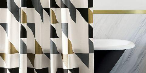 West Elm Triangle Shower Curtain