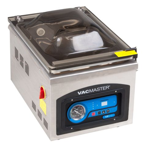 "<p><strong> <em> $900, <a href=""http://www.chefsfirst.com/Vacuum-Sealer-VACMASTER-10-Sealing-Beam-120V-p/ARYVP215.htm?gclid=COyk2IT9uskCFQsjHwodj2sPkA "" target=""_blank"">chefsfirst.com</a></em></strong></p><p><strong>Best for Updates </strong></p><p>Wondering how much pressure is too much or too little? Stay on top of things by glancing over at this food vacuum sealer's vibrant, easy-to-read pressure indicator. This unit also boasts one of the fastest cycle times on the market (between 20 and 40 seconds). </p><p><span class=""redactor-invisible-space""></span></p>"