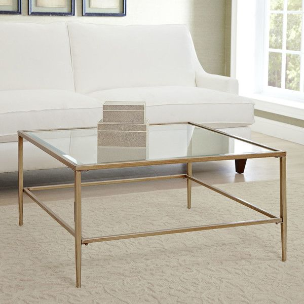birch lane Harlan Square Glass Coffee Table