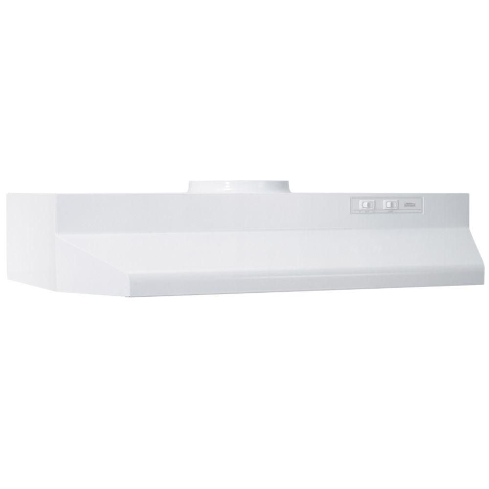 "<p><strong><em>$40, <a href=""http://www.homedepot.com/p/Broan-42000-Series-30-in-Range-Hood-in-White-423001/202191719?cm_mmc=Shopping%7cTHD%7cG%7c0%7cG-BASE-PLA-D29-Appliances%7c&gclid=CPmRsqvJuMkCFQwjHwodIvwEpg&gclsrc=aw.ds "">homedepot.com</a></em></strong></p><p><strong>Best for Venting on a Budget</strong></p><p>Step into a safe cooking environment that doesn't thin your wallet with this affordable, highly rated range hood. This unit comes in a variety of finishes, including white, black, bisque, and the ever-popular stainless steel. <br></p>"