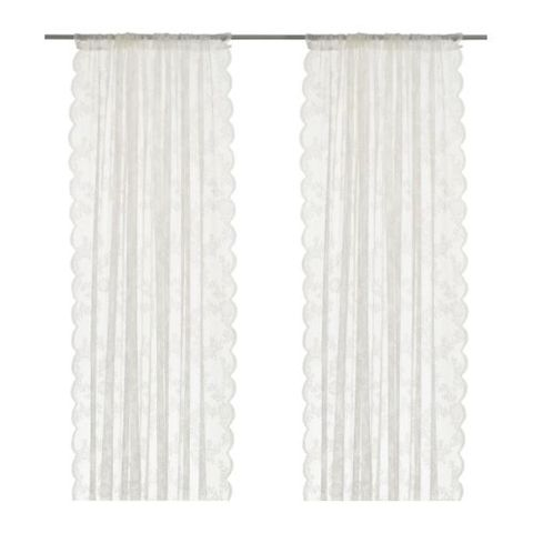 ikea alvine spets lace curtains
