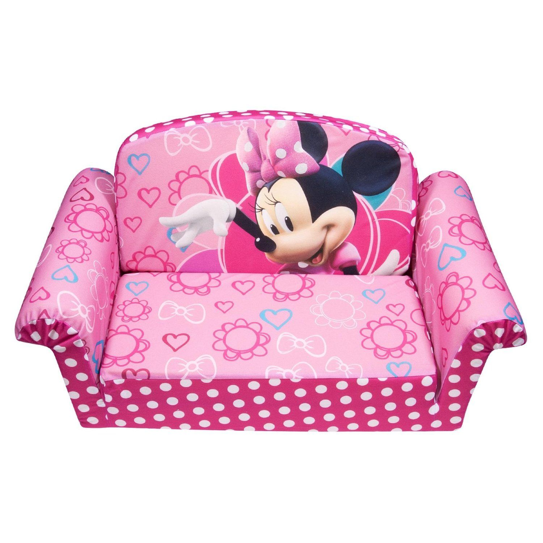 marshmallow furniture minnie's bowtique flip open sofa pink