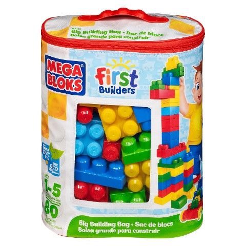 mega bloks first builders big building bag classic 80 pieces
