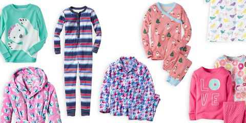 girls pajama sets and bathrobe