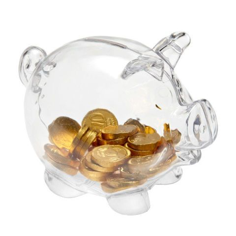 the container store piggy bank clear