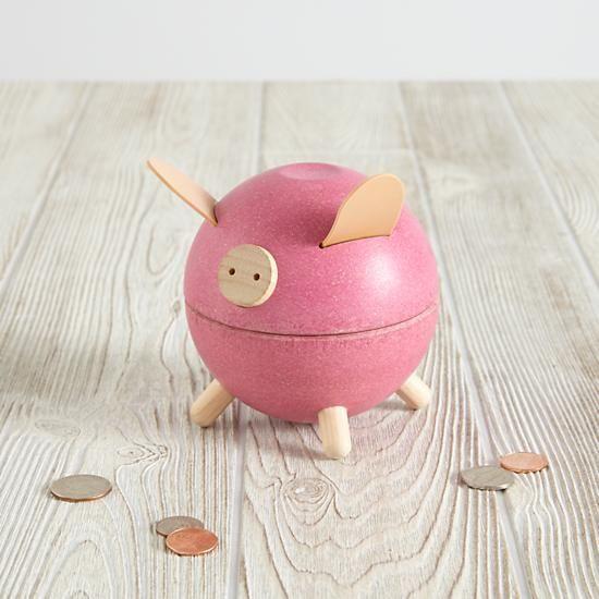 the land of nod piggy bank pink
