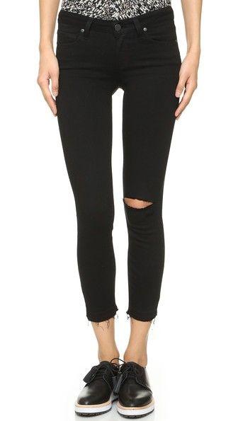 paige denim verdugo crop skinny jeans in black