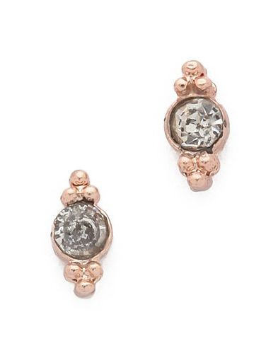 shashi mini ballerina stud earrings rose gold