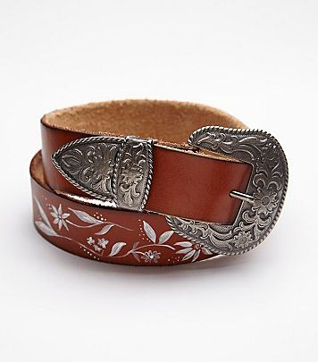 free people psych out brown leather belt