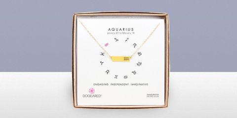 Dogeared Aquarius zodiac necklace