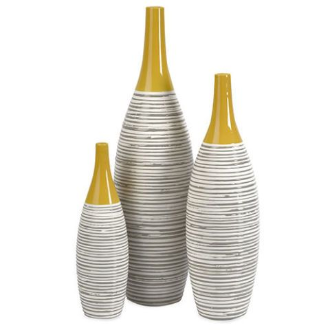 wayfair IMAX Andean Multi 3-Piece Glaze Vase Set