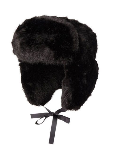 imposter faux fur trapper hat in black