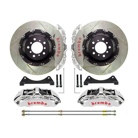 brembo gt-r slotted 2 piece rotors big brake kit