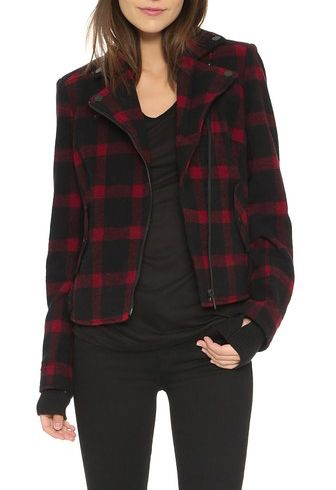 eleven paris prodigy jacket in red plaid