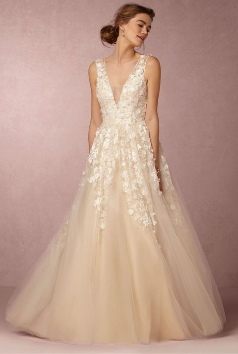 10 best winter wedding dresses for 2018 wedding dresses and gowns bhldn ariane wedding gown in creme junglespirit Gallery