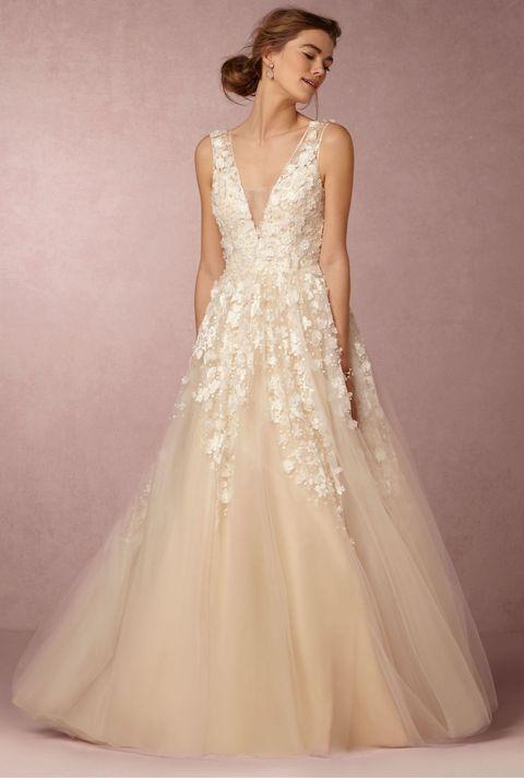 bhldn ariane wedding gown in creme