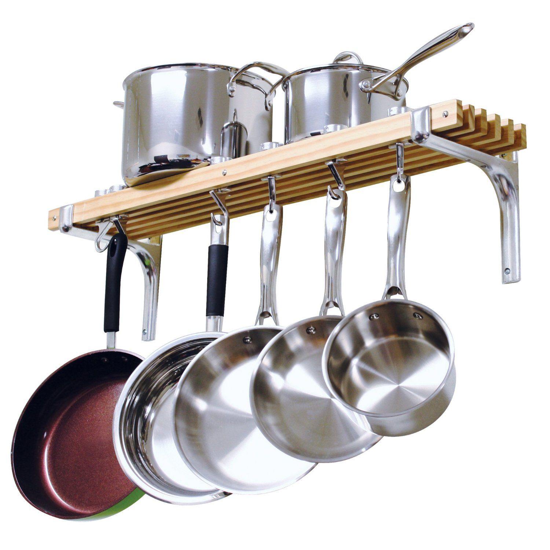 amazon cooks standard wall mount pot rack