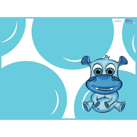 kidkushion blue hippo splat mat