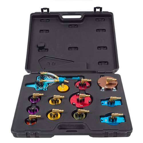 Pneumatic Air Pressure Bleeder Tool Set Kit Professional Garage Brake Bleeder Kit with Carry Case