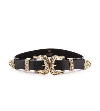 b-low the belt bri bri belt in black and gold