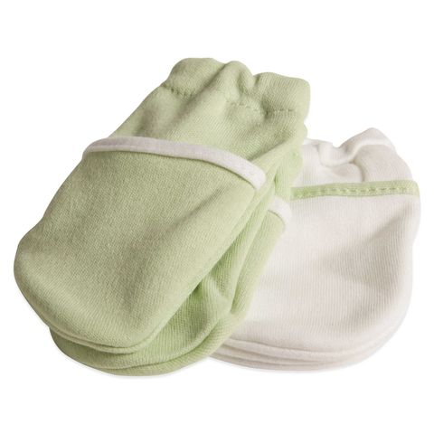 safety 1st no scratch newborn mittens in green