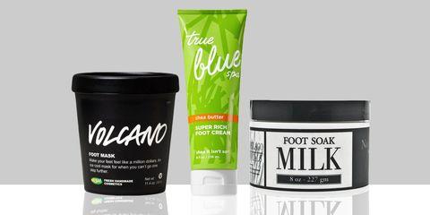 foot scrub and cream