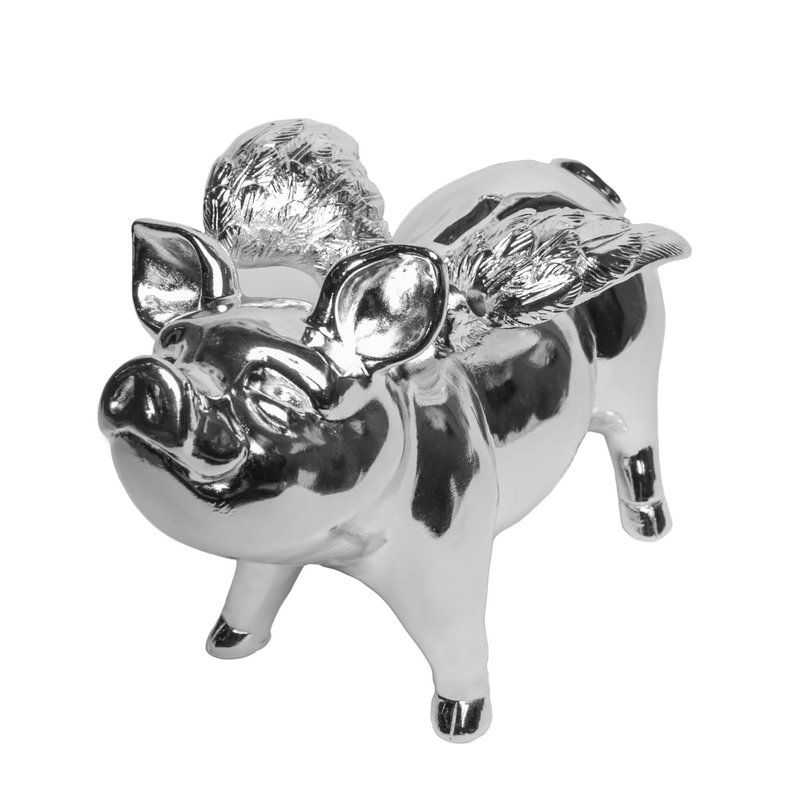 ahalife electroplated piggy bank wings