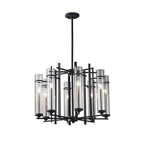 bedbathbeyond feiss ethan wrought iron chandelier