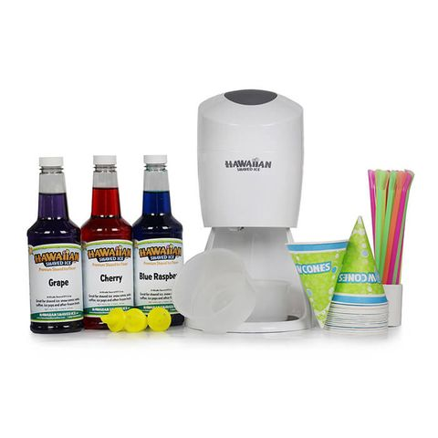 Hawaiian Shaved Ice and Snow Cone Machine Party Packag