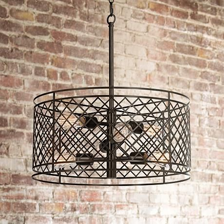 lampsplus franklin iron works metal lattice pendant light
