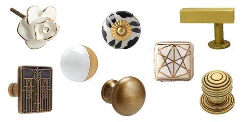 metallic cabinet knobs